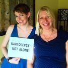 Jennifer & her supportive friend in Florida #narcolepsynotalone #narcolepsy