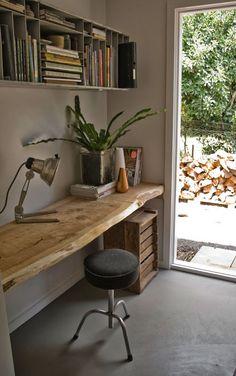 wooden desk literally. greygardens.com.au