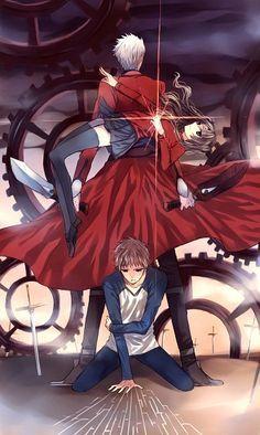 Fate/Stay Night - Archer, Rin Tohsaka, Shirou Emiya