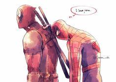 Spideypool, Marvel Funny, Marvel Memes, Marvel Dc, Deadpool X Spiderman, Batman Vs, Steven Universe, Garfield Comics, Marvel Drawings
