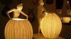 Фантастически прекрасные лампы из папье-маше от французского дуэта Papier à êtres
