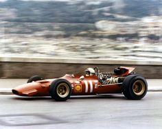 Chris Amon in one of the legendary Ferrari 312's 1969 Monaco Grand Prix,