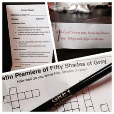 Treats from Austin Books to Screen Fifty Shades of Grey premiere party