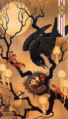 raven illustration by Christopher Conn Askew Crow Art, Raven Art, Samhain, Dessin Old School, Crows Ravens, Pop Surrealism, Pics Art, Japanese Art, Japanese Drawings