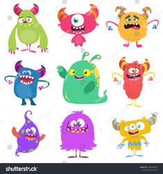 Find Cute Cartoon Monsters Set Cartoon Monsters stock images in HD and millions of other royalty-free stock photos, illustrations and vectors in the Shutterstock collection. Thousands of new, high-quality pictures added every day. Cartoon Monsters, Monster Design, Halloween Design, Goblin, Cute Cartoon, Troll, Royalty Free Stock Photos, Creatures, Illustration