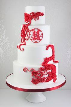 wedding cakes red Wedding Cakes - The Fairy Cakery - Cake Decoration and Courses based in Wiltshire Wedding Cake Red, Wedding Cake Designs, Wedding Cake Toppers, Purple Wedding, Gold Wedding, Diy Wedding, Beautiful Cake Designs, Beautiful Cakes, Karate Cake