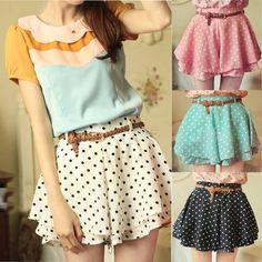 Aliexpress.com : Buy Summer Chiffon Pleated Skirt Shorts Women ...