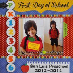 Oliver's First Day of Preschool - Scrapbook.com