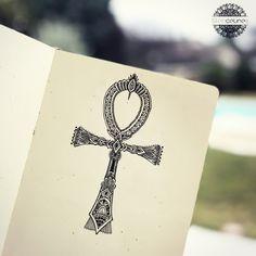 Ankh cross - Egyptian symbol - tattoo idea by Silence Lines