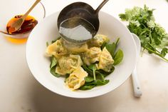 A steaming bowl of won tons is welcome in any season, and making them at home is a fairly easy process Purchase a package of high-quality won ton skins, which are available everywhere, and then it's just a matter of filling and folding them Once they hit boiling water they cook for just 2 minutes