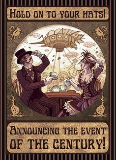 Steampunk party invitation. Might have to have one just so I can send out invitations like this.