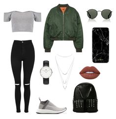 """polyvore"" by jesy-smith on Polyvore featuring mode, adidas Originals, Boohoo, Topshop, Charlotte Russe, Current Mood, Ray-Ban et Daniel Wellington"