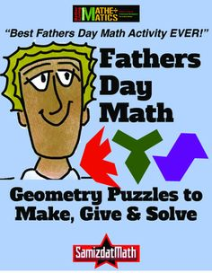 BEST FATHERS DAY MATH ACTIVITY EVER! Easy to make booklet with 11 different geometry challenges, includes puzzle outlines AND shape classification clue cards. Make, Take, GIVE!