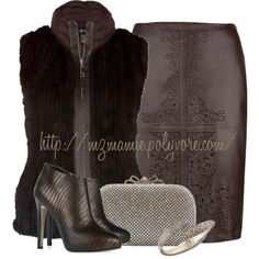 A fashion look from July 2013 featuring stacked heel bootie, silver evening handbag and rose gold plated jewelry. Browse and shop related looks. Ladies Gents, Current Fashion Trends, Nice Dresses, Beautiful Dresses, Leopard Prints, Animal Prints, Got The Look, Dress For Success, Complete Outfits