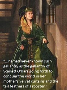 Vivien Leigh as Scarlett O'Hara from 'Gone with the Wind' wearing her famous green curtain dress. Scarlett O'hara, Scarlett Dresses, Rhett Butler, Vivien Leigh, Go To Movies, Great Movies, Cos Dresses, Tomorrow Is Another Day, Chef D Oeuvre