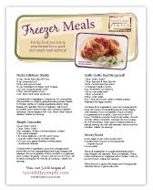 Tastefully Simple - Freezer Meals