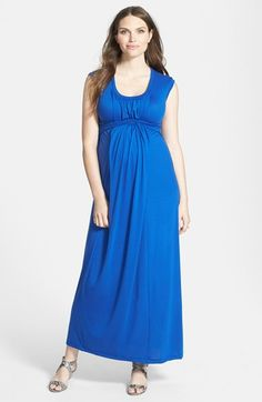 796ff51a673 Japanese Weekend Sleeveless Maternity/Nursing Maxi Dress available at  #Nordstrom - in black,
