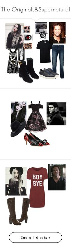 """""""The Originals&Supernatural"""" by ncis-lover-dinozzo ❤ liked on Polyvore featuring Killstar, Neil Barrett, Bellfield, Dolce&Gabbana, jared, Isabel Marant, Sole Society, Venus, Ted Baker and Joseph"""