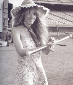 "Stevie, baton twirling, probably at the time of ""Tusk"" video production with USC Trojan marching band"