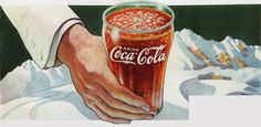N. C. Wyeth (1882-1945)  The pause that refreshes...and cools (advertisement for Coca-Cola) 1937, known by reproduction only Used by permission, Courtesy of The Coca-Cola Company Archive - Advertising image for The Coca-Cola Company (published in Saturday Evening Post, July 31, 1937, The Coca-Cola Company Archives; National Geographic, June 1937, Brandywine River Museum library; Time Magazine, July 19, 1937, Brandywine River Museum library)