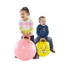 Skippybal 45 cm  Ga je mee buiten spelen? Stuiter heerlijk in het rond op deze vrolijk gekleurde skippybal met dierenprint. Je maakt de grootste sprongen van links naar rechts en van voor naar achter.  EUR 3.50  Meer informatie