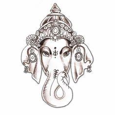 elephant tattoo | hindu hindu elephant god god ganesha tattoo design  | followpics.co