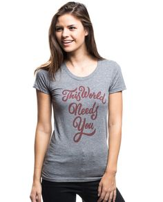 This World Needs You Triblend Short Sleeve Tee – Sevenly #sucideprevention #AFSP