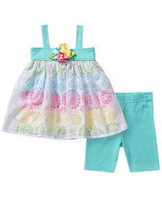 Sweet Heart Rose Baby Girls' 2-Piece Top & Pants Set