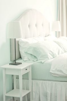 DIY Headboard: she makes it look simple and inexpensive.