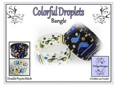 Colorful Droplets Bangle  Beading Pattern by DebgerDesigns on Etsy