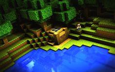 Minecraft Wallpaper Little Lake House Minecraft Wallpaper 3d Wallpaper Computer Wallpaper Windows Wallpaper