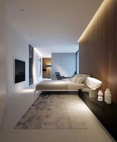 40 Best Bedroom Interior Design You Will Love to Makeover Your Home! Awesome Design Ideas for Your Bedroom. Try this beautifulgreat design ideas. Modern Interior, Home Interior Design, Interior Architecture, Luxury Interior, Minimalist Interior, Architecture Plan, Residential Architecture, Home Decor Bedroom, Modern Bedroom