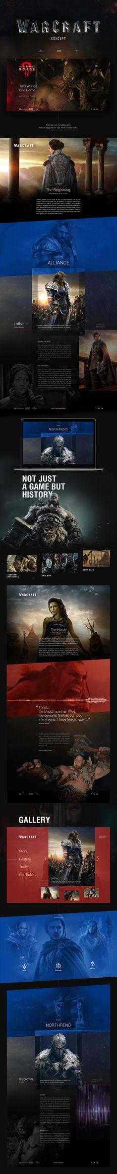 movie ' warcraft ' promotion site