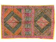 BOHO-VINTAGE-DECORATIVE-WALL-HANGING-EMBROIDERED-INDIAN-ETHNIC-TAPESTRY-60x40