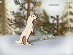 Super charming 3D laser cut Ferret / Forest animals / Woodland animals / Ferret figurine / Ferret toys / Pretend play / Laser cut animals by DosheEcoDecorCharms on Etsy