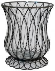 Glass Hurricane Candle Holder #homedecorators