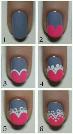 Cute Nail Art Tutorial for more fun and cute nail art designs Fancy Nails, Love Nails, Nail Art Diy, Diy Nails, Valentine Nail Art, Valentine Hearts, Nagel Hacks, Cute Nail Art Designs, Pretty Designs