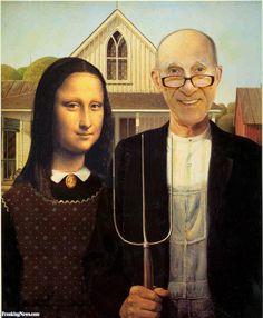 American Gothic Mona Lisa and Leslie Nielsen - Bing Images