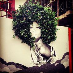 Colombian black street art  #streetart #african #afro by escapism000