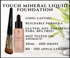 Touch Mineral Liquid Foundation & Liquid Foundation Brush
