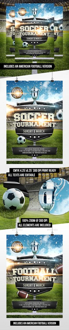 206 Best Football Flyer Templates PSD Images Sports Flyer
