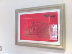 Modern Toss Open Prison in custom made frame with hammered painted finish