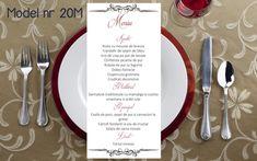 Wedding Menu, Personalized Items, Tableware, Floral, Vintage, Dinnerware, Wedding Dinner Menu, Dishes, Flowers