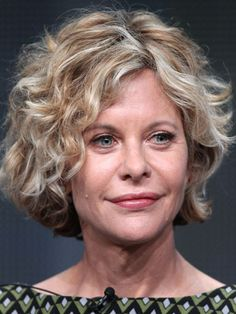 Best Cut for Fine Wavy Hair: Don't let your fine texture create a limp look. Pump up the volume with a layered, short bob like the one Meg Ryan sports.