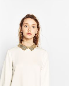 ZARA - TRF - DRESS WITH SEQUINNED COLLAR