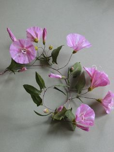 Jude Miller´s crepe paper convolvulus flower http://judemiller.com/fieldbindweed2.htm