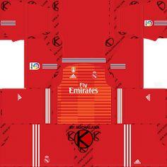 96a85112f Real Madrid 2018/19 Kit - Dream League Soccer Kits Goalkeeper Kits, Soccer  Kits