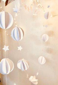 Pure white scandi garland intertwined with white stars and stitched with white thread and ribbons. Light enough to be hung on almost any surface including the m White Party Decorations, Wedding Decorations, Christmas Decorations, Cocktail Party Decor, Celestial Wedding, Chimney Breast, Christmas Cocktails, Wedding Accessories, Garland