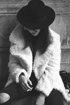 Coat hat tumblr women