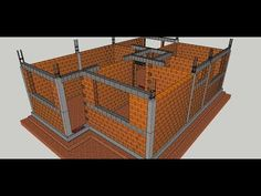 Curso de construção civil grátis Parte 5 - YouTube Town House Plans, Mini House Plans, Model House Plan, Simple House Plans, Framing Construction, Brick Construction, House Front Design, Roof Design, Aluminum Patio Awnings